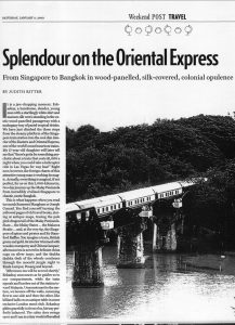 Splendour on the Oriental Express